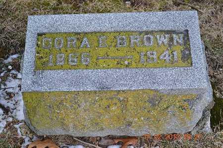 BROWN, CORA E. - Branch County, Michigan | CORA E. BROWN - Michigan Gravestone Photos