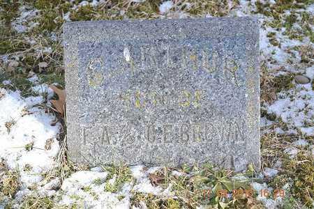 BROWN, C. ARTHUR - Branch County, Michigan | C. ARTHUR BROWN - Michigan Gravestone Photos