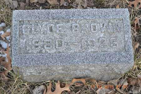 BROWN, CLYDE - Branch County, Michigan | CLYDE BROWN - Michigan Gravestone Photos