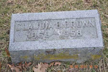 BROWN, CLAUDIA B. - Branch County, Michigan   CLAUDIA B. BROWN - Michigan Gravestone Photos