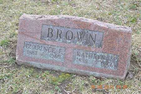 BROWN, CLARENCE E. - Branch County, Michigan | CLARENCE E. BROWN - Michigan Gravestone Photos