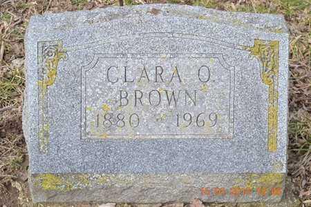 BROWN, CLARA O. - Branch County, Michigan | CLARA O. BROWN - Michigan Gravestone Photos