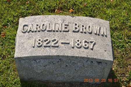 BROWN, CAROLINE - Branch County, Michigan | CAROLINE BROWN - Michigan Gravestone Photos
