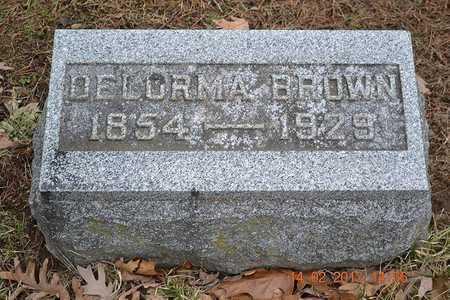 BROWN, DELORMA - Branch County, Michigan   DELORMA BROWN - Michigan Gravestone Photos