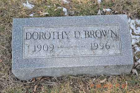BROWN, DOROTHY D. - Branch County, Michigan | DOROTHY D. BROWN - Michigan Gravestone Photos