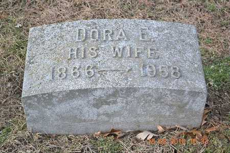BROWN, DORA E. - Branch County, Michigan   DORA E. BROWN - Michigan Gravestone Photos