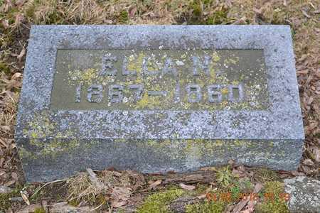 BROWN, ELLA N. - Branch County, Michigan | ELLA N. BROWN - Michigan Gravestone Photos