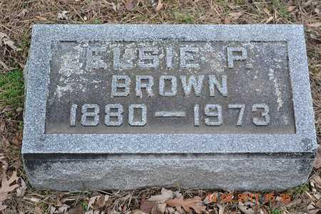 BROWN, ELSIE P. - Branch County, Michigan | ELSIE P. BROWN - Michigan Gravestone Photos