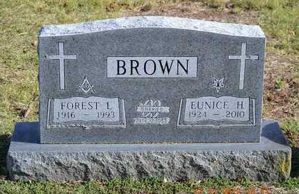 BROWN, EUNICE H. - Branch County, Michigan | EUNICE H. BROWN - Michigan Gravestone Photos