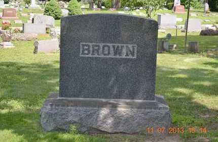 BROWN, FAMILY - Branch County, Michigan   FAMILY BROWN - Michigan Gravestone Photos