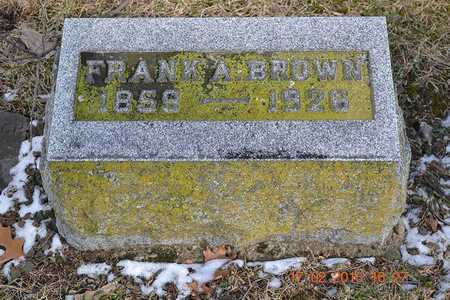 BROWN, FRANK A. - Branch County, Michigan | FRANK A. BROWN - Michigan Gravestone Photos