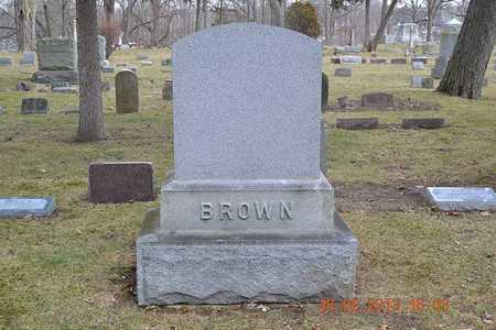 BROWN, FAMILY - Branch County, Michigan | FAMILY BROWN - Michigan Gravestone Photos