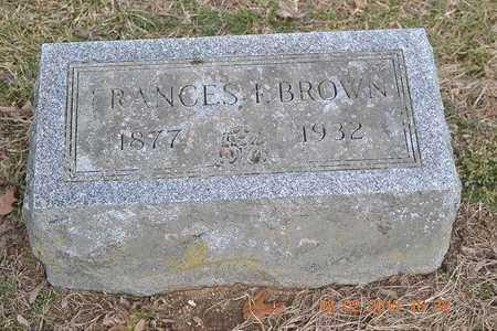 BROWN, FRANCES I. - Branch County, Michigan | FRANCES I. BROWN - Michigan Gravestone Photos