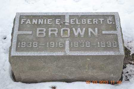 BROWN, ELBERT C. - Branch County, Michigan | ELBERT C. BROWN - Michigan Gravestone Photos