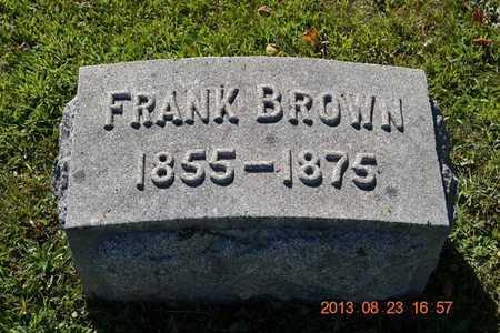 BROWN, FRANK - Branch County, Michigan | FRANK BROWN - Michigan Gravestone Photos