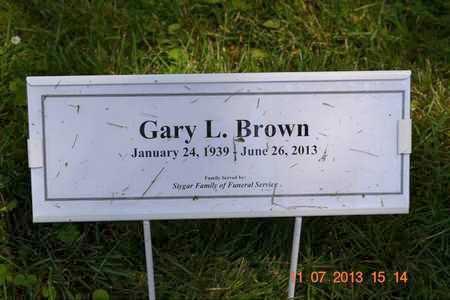 BROWN, GARY L. - Branch County, Michigan | GARY L. BROWN - Michigan Gravestone Photos