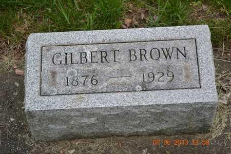 BROWN, GILBERT - Branch County, Michigan | GILBERT BROWN - Michigan Gravestone Photos