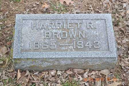 BROWN, HARRIET R. - Branch County, Michigan | HARRIET R. BROWN - Michigan Gravestone Photos