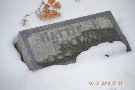 BROWN, HATTIE J. - Branch County, Michigan   HATTIE J. BROWN - Michigan Gravestone Photos