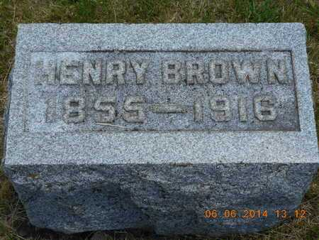 BROWN, HENRY - Branch County, Michigan | HENRY BROWN - Michigan Gravestone Photos