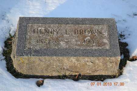 BROWN, HENRY L. - Branch County, Michigan | HENRY L. BROWN - Michigan Gravestone Photos