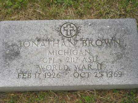BROWN, JONATHAN - Branch County, Michigan | JONATHAN BROWN - Michigan Gravestone Photos