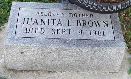 BROWN, JUANITA - Branch County, Michigan | JUANITA BROWN - Michigan Gravestone Photos