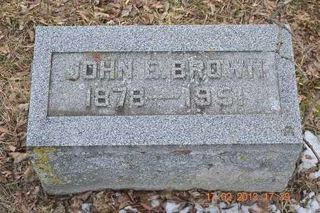 BROWN, JOHN E. - Branch County, Michigan | JOHN E. BROWN - Michigan Gravestone Photos