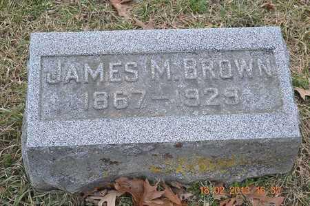 BROWN, JAMES M. - Branch County, Michigan   JAMES M. BROWN - Michigan Gravestone Photos