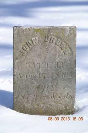 BROWN, JOHN - Branch County, Michigan | JOHN BROWN - Michigan Gravestone Photos