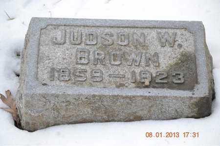 BROWN, JUDSON W. - Branch County, Michigan | JUDSON W. BROWN - Michigan Gravestone Photos