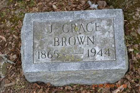 BROWN, J. GRACE - Branch County, Michigan | J. GRACE BROWN - Michigan Gravestone Photos