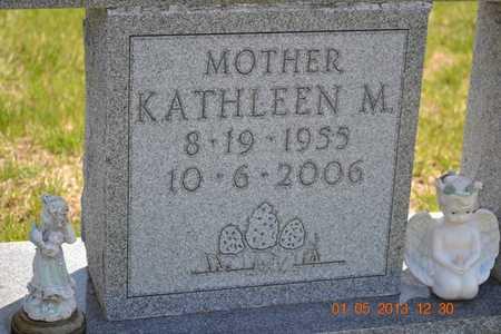 BROWN, KATHLEEN M.(CLOSEUP) - Branch County, Michigan | KATHLEEN M.(CLOSEUP) BROWN - Michigan Gravestone Photos