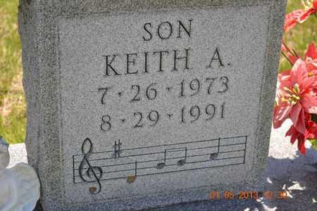 BROWN, KEITH A.(CLOSEUP) - Branch County, Michigan | KEITH A.(CLOSEUP) BROWN - Michigan Gravestone Photos