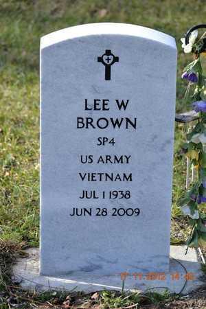BROWN, LEE W. - Branch County, Michigan   LEE W. BROWN - Michigan Gravestone Photos