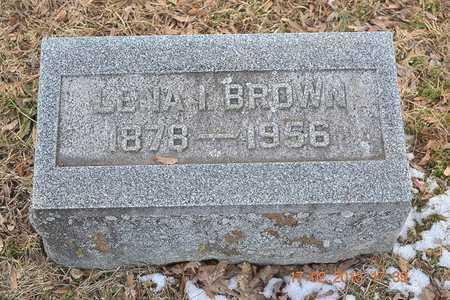 BROWN, LENA I. - Branch County, Michigan | LENA I. BROWN - Michigan Gravestone Photos
