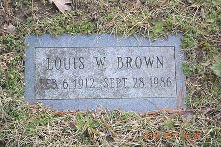 BROWN, LOUIS W. - Branch County, Michigan | LOUIS W. BROWN - Michigan Gravestone Photos