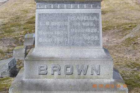 BROWN, ISABELLA - Branch County, Michigan | ISABELLA BROWN - Michigan Gravestone Photos