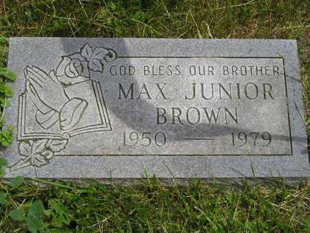 BROWN, MAX JUNIOR - Branch County, Michigan   MAX JUNIOR BROWN - Michigan Gravestone Photos
