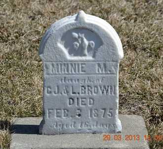 BROWN, MINNIE M. - Branch County, Michigan | MINNIE M. BROWN - Michigan Gravestone Photos