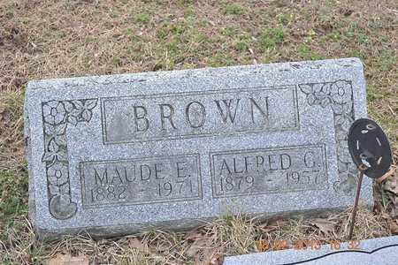 BROWN, ALFRED G. - Branch County, Michigan | ALFRED G. BROWN - Michigan Gravestone Photos