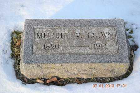 BROWN, MURRIEL V. - Branch County, Michigan | MURRIEL V. BROWN - Michigan Gravestone Photos