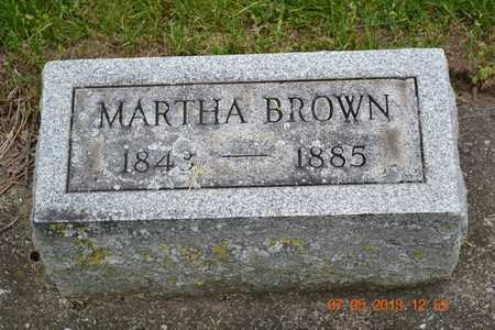 BROWN, MARTHA - Branch County, Michigan | MARTHA BROWN - Michigan Gravestone Photos
