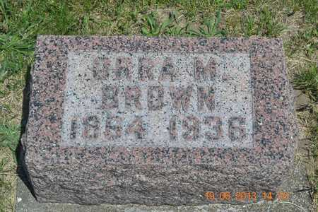 BROWN, ORRA M. - Branch County, Michigan   ORRA M. BROWN - Michigan Gravestone Photos