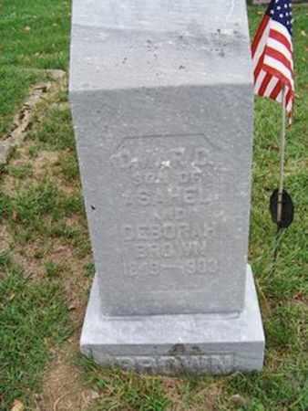 BROWN, OMAR - Branch County, Michigan | OMAR BROWN - Michigan Gravestone Photos