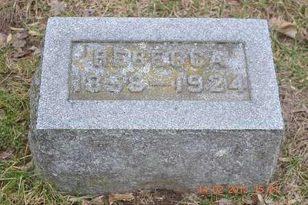 BROWN, REBECCA - Branch County, Michigan | REBECCA BROWN - Michigan Gravestone Photos
