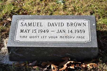 BROWN, SAMUEL DAVID - Branch County, Michigan | SAMUEL DAVID BROWN - Michigan Gravestone Photos
