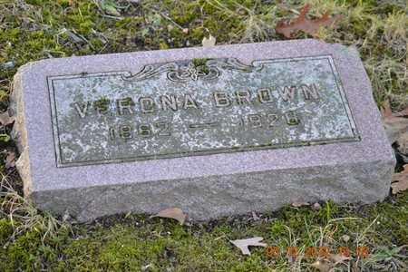 BROWN, VERONA - Branch County, Michigan | VERONA BROWN - Michigan Gravestone Photos