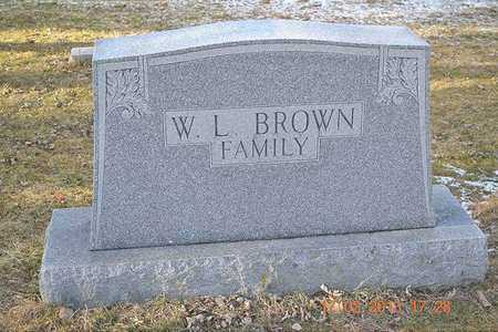 BROWN, WALTER L. - Branch County, Michigan | WALTER L. BROWN - Michigan Gravestone Photos