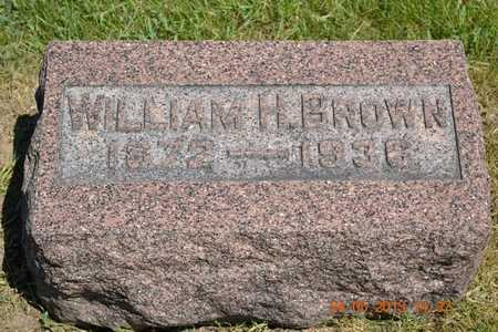 BROWN, WILLIAM H. - Branch County, Michigan | WILLIAM H. BROWN - Michigan Gravestone Photos